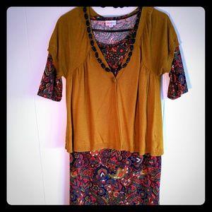 LulaRoe paisley Julia dress complete styled look
